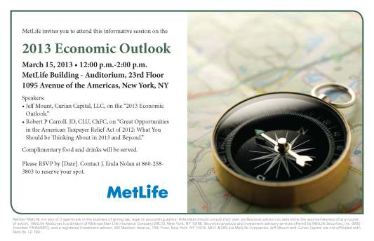 Economic Outlook Seminar Invitation