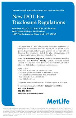 Disclosure Regulations Seminar Invitation