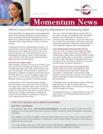 Orlando Health's Momentum News - 1Q 2013