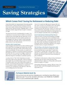 Savings Strategies - 1Q 2013