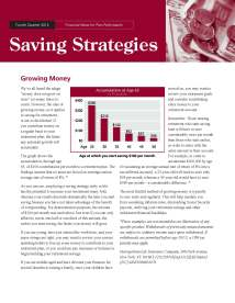 Savings Strategies - 4Q 2012