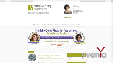 Banner on yMarketingMatters website (www.yMarketingMatters.com)