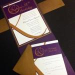 Invitation and RSVP card together