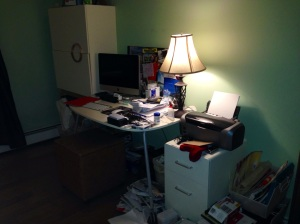 Even my iPhone can't lighten up my home office photo!