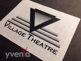 Fictional movie theatre logo concept - Reverse type