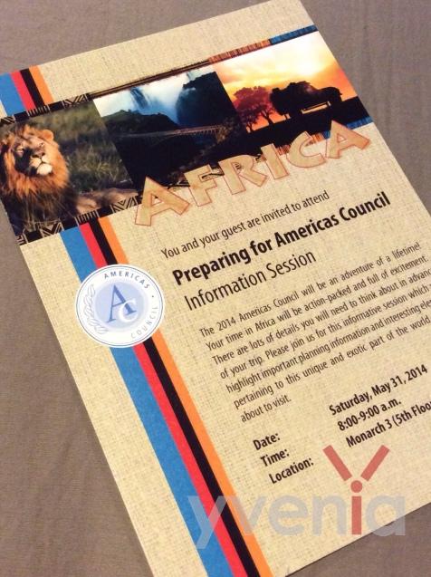 Final design of invitation.